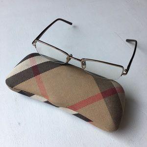 Burberry Rimless Eyeglass Frames and Case
